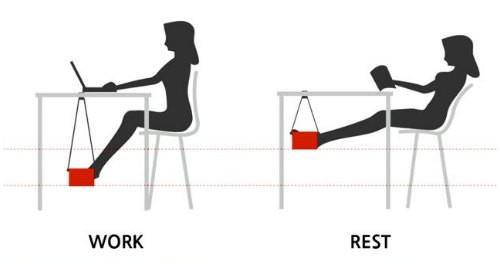 Posizione Scrivania Ufficio : Amaca fuut per una postura corretta alla scrivania ufficio eu