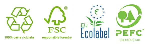 Marchi carta ricilata ed ecologica