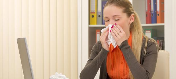 Trasmettere l'influenza in ufficio