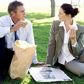 Staccare dal lavoro con la pausa pranzo all'aperto