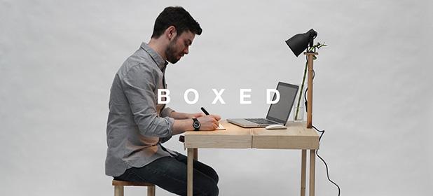 BOXED, valigetta-tavolino per l'ufficio