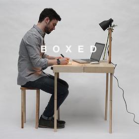 BOXED, una valigetta-tavolino per l'ufficio